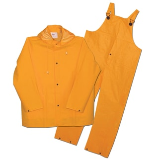 Boss Rainwear 3PR0300Y4 Fluorescent Yellow Lined Rainsuit 3 Piece