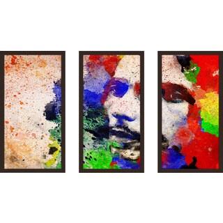 "Bekim Mehovic ""Marley Iii"" Framed Plexiglass Wall Art Set of 3"