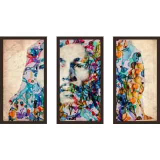"Bekim Mehovic ""Marley Ii"" Framed Plexiglass Wall Art Set of 3"