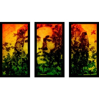 "Bekim Mehovic ""Marley I"" Framed Plexiglass Wall Art Set of 3"