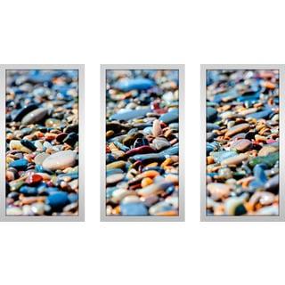 """Rocks 4"" Framed Plexiglass Wall Art Set of 3"