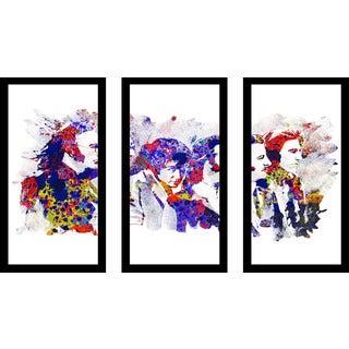 "Bekim Mehovic ""The Beatles Iv"" Framed Plexiglass Wall Art Set of 3"