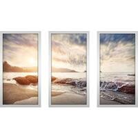"""Sunlight"" Framed Plexiglass Wall Art Set of 3"