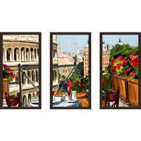 """Rome, Italy"" Framed Plexiglass Wall Art Set of 3"