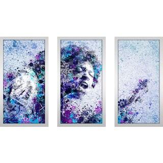 "Bekim Mehovic ""Jimi Hendrix Ii"" Framed Plexiglass Wall Art Set of 3"