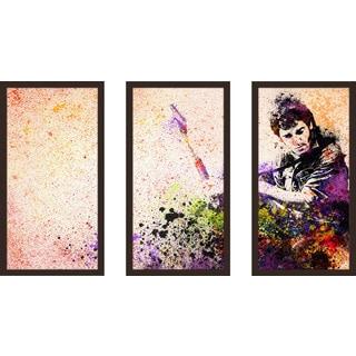 "Bekim Mehovic ""Bruce Springsteen Splats Ii"" Framed Plexiglass Wall Art Set of 3"