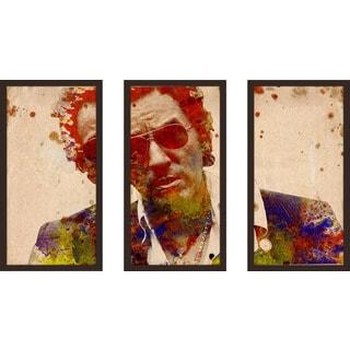 "Bekim Mehovic ""Bruce Springsteen I"" Framed Plexiglass Wall Art Set of 3"
