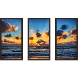 """Hazy Reflections 4"" Framed Plexiglass Wall Art Set of 3"