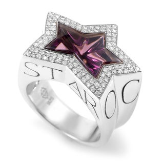 Stephen Webster Rockstar Sterling Silver Diamond & Amethyst Ring
