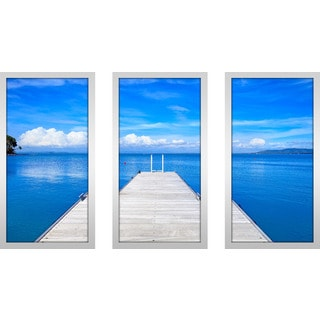 """Monte Argentario, Porto Santo Stefano"" Framed Plexiglass Wall Art Set of 3"