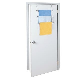 Over the Door Chrome Towel Rack
