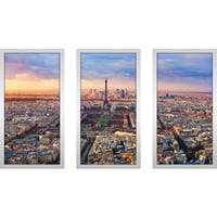 """""""Paris Rooftops 1"""" Framed Plexiglass Wall Art Set of 3"""