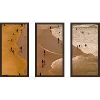 """Beach Please I"" Framed Plexiglass Wall Art Set of 3"