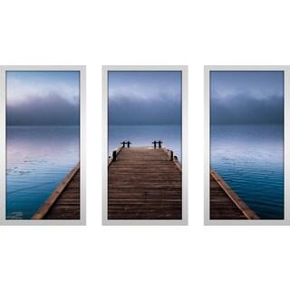 """By The Sea"" Framed Plexiglass Wall Art Set of 3"