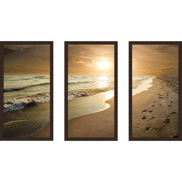 Footprints  Framed Plexiglass Wall Art Set ...  sc 1 st  Overstock.com & Footprints
