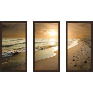 """Footprints"" Framed Plexiglass Wall Art Set of 3"