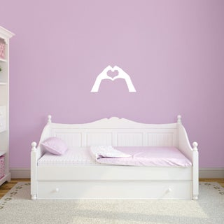 "Heart Hands Wall Decal - 24"" wide x 14"" tall"