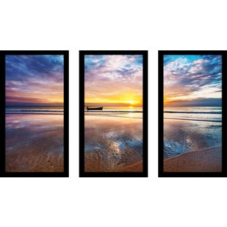 """Crystal Waters"" Framed Plexiglass Wall Art Set of 3"