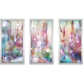 "Sharon Johnstone ""Rainbow Rain Catcher"" Framed Plexiglass Wall Art Set of 3"