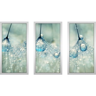 "Sharon Johnstone ""Feeling Blue But Dandy"" Framed Plexiglass Wall Art Set of 3"