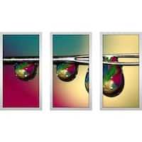 "Sharon Johnstone ""Drop"" Framed Plexiglass Wall Art Set of 3"