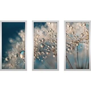 "Sharon Johnstone ""Denim Dandy Dazzle"" Framed Plexiglass Wall Art Set of 3"