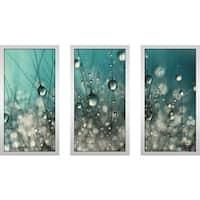 "Sharon Johnstone ""Crazy Cactus Sparkles"" Framed Plexiglass Wall Art Set of 3"