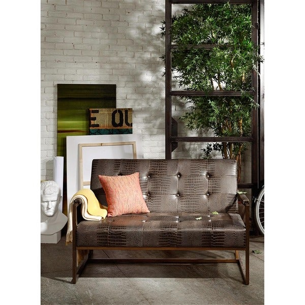 Ink Ivy Waldorf Chocolate Accent Loveseat Free Shipping