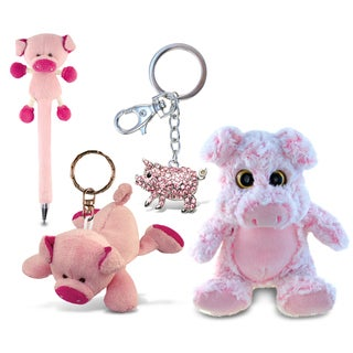 Puzzled Super Pig Soft Plush, Plush Pen, Plush Keychain and Sparkling Charm