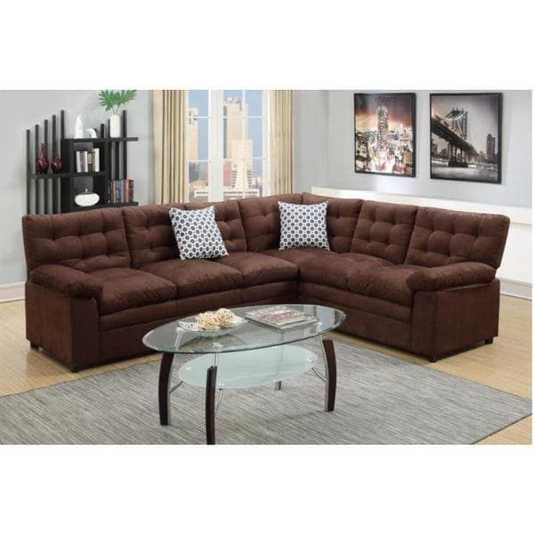 Sectional Sofa Sale Houston: Kevin Brown Microfiber 2-piece Sectional Sofa