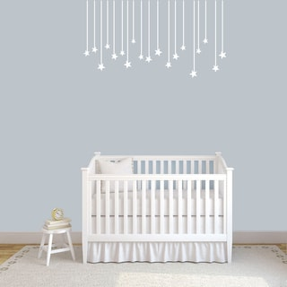 "Hanging Stars Wall Decals - 48"" wide x 26"" tall"