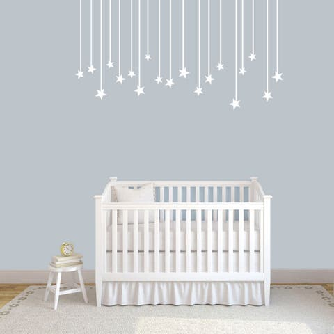 "Hanging Stars Wall Decals - 60"" wide x 32"" tall"
