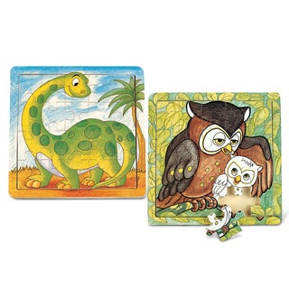 Puzzled Dinosaur and Owl Wooden Jigsaw Puzzles