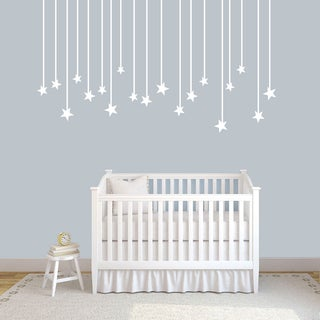 "Hanging Stars Wall Decals - 72"" wide x 40"" tall"