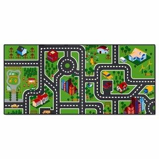 Fanmats Imaginative Kids Nylon City Road Play Mat