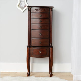 Hives & Honey Amber Walnut Jewelry Armoire