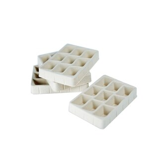 Hives and Honey Tan Felt-lined Earring Tray (Pack of 4) (Option: Tan)