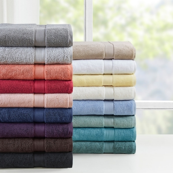 "Madison Park Signature 800 GSM Cotton 8-piece Towel Set - 30x54"" (2)"