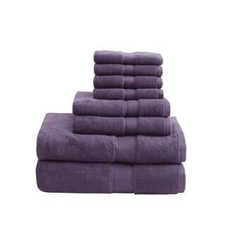 Madison Park Signature 800 GSM Cotton 8-piece Towel Set (Option: Purple)
