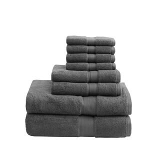 Madison Park Signature 800 GSM Cotton 8-piece Towel Set (Option: Grey)