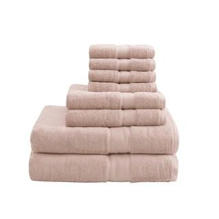 Madison Park Signature 800 GSM Cotton 8-piece Towel Set (Blush)