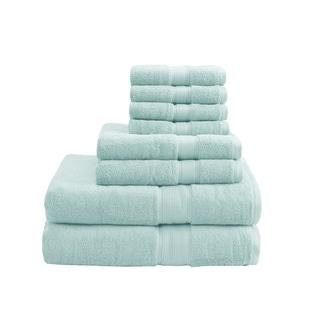 Madison Park Signature 800 GSM Cotton 8-piece Towel Set (Seafoam)
