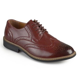 Vance Co. Men's 'Butch' Faux Leather Lace-up Oxford Derby Dress Shoes