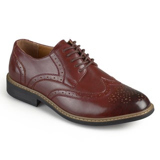 Vance Co. Men's 'Butch' Faux Leather Lace-up Oxford Derby Dress Shoes