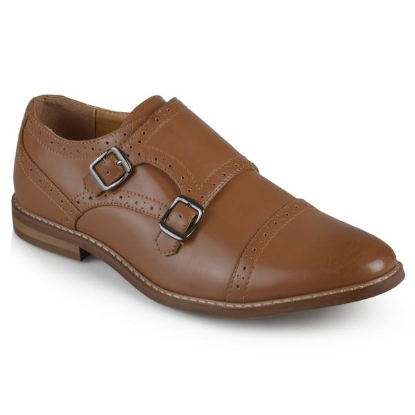 Vance Co. Men's Cap Toe Double Monk Strap Dress Shoes (Multiple Colors)