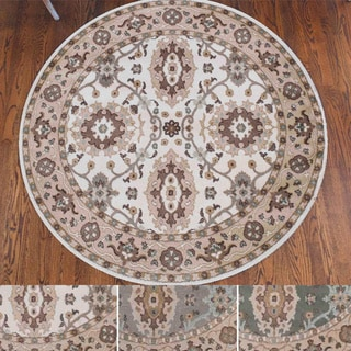 Admire Home Living Catherine Multicolor Olefin Oriental Area Rug (6'7 x 6'7)