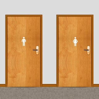 Men's and Women's Restroom 6-inch Tall Wall Decals