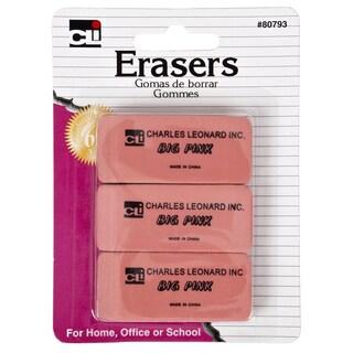 Charles Leonard Inc. 80793 Pink Eraser 3 Count