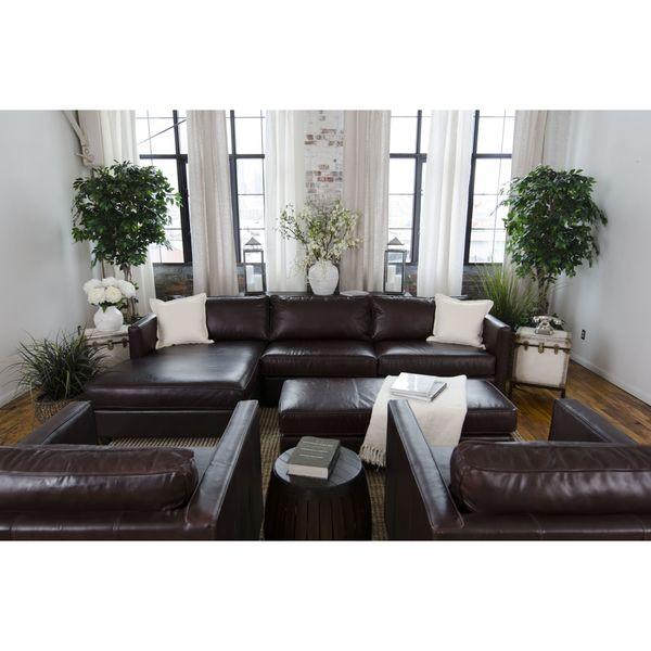 Shop Urban Top Grain Leather Collection 5 Piece Living Room Set