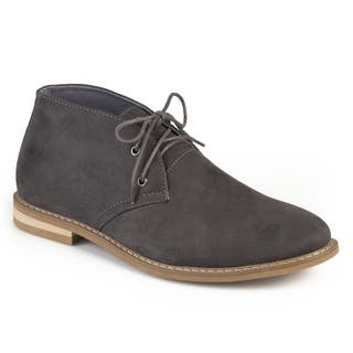 Vance Co. Men's 'Manson' Lace-up Faux Suede High Top Chukka Boots (Option: Grey)|https://ak1.ostkcdn.com/images/products/12851433/P19614859.jpg?impolicy=medium